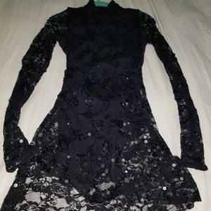 Black Sequin Costume Dress